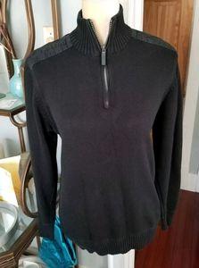 Mens Vintage Oscar De La Renta Mock Neck Sweater M
